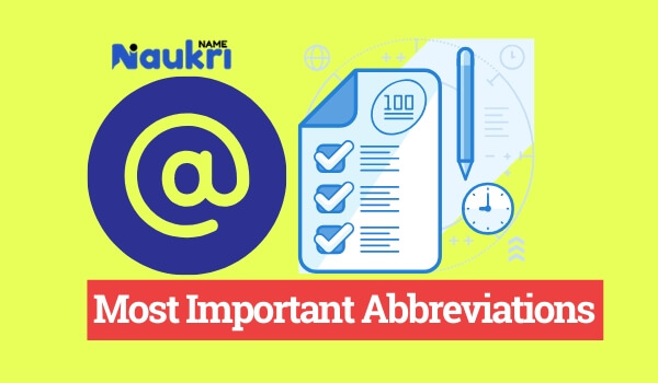 Most Important Abbreviations