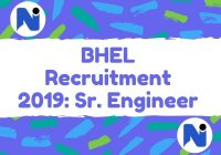 BHEL Recruitment 2019: Sr. Engineer /Dy. Manager/ Sr. DGM/ Manager [24 Posts]