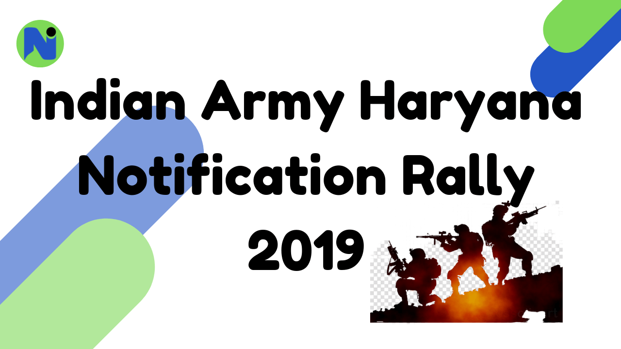 Indian Army Haryana Notification Rally 2019