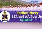 Indian Navy Sailors SSR, AA Syllabus