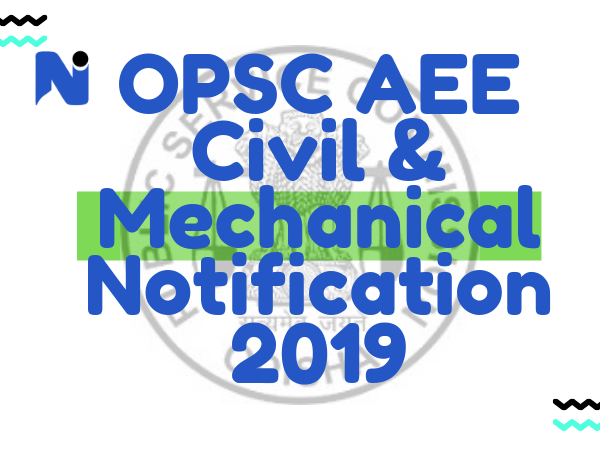 OPSC AEE Civil & Mechanical Notification 2019