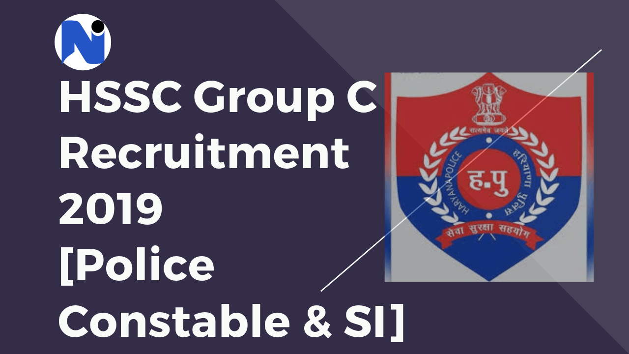 hssc group c recruitment 2019 download haryana police constable si notification