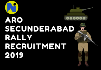 ARO Secunderabad Rally Recruitment 2019