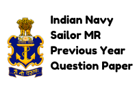 Indian Navy Sailor MR Previous Year Question Paper