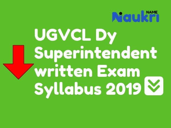 UGVCL Dy Superintendent (Accounts) written Exam Syllabus 2019