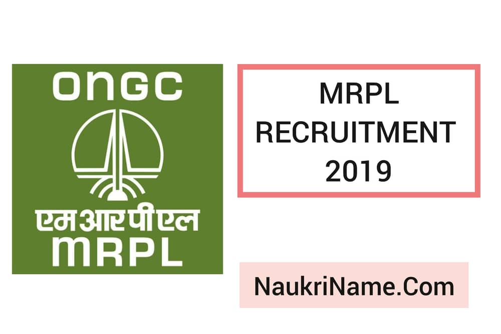MRPL Recruitment 2019 for Non-Management Cadre