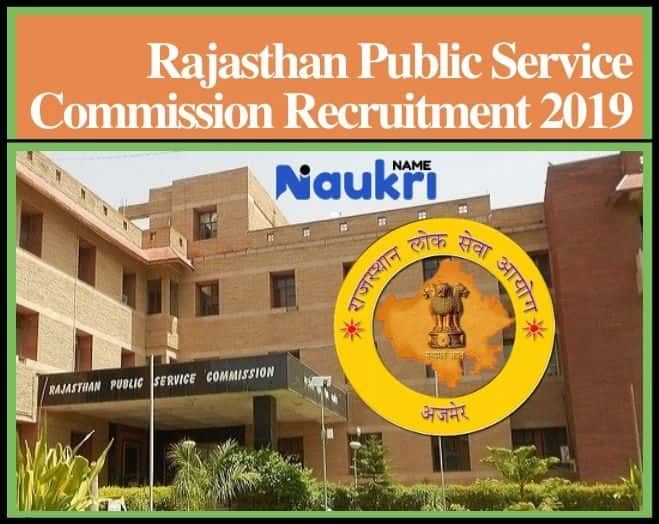 Rajasthan Public Service Commission (RPSC) Recruitment 2019
