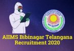 AIIMS Bibinagar Telangana Recruitment 2020