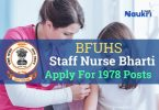 BFUHS Staff Nurse Recruitment