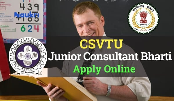 CSVTU Bhilai Junior Consultant Recruitment