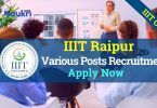 IIIT Raipur Recruitment Chattisgarh