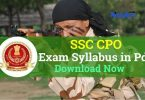SSC CPO Exam Syllabus