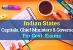 States Capitals, Chief Ministers and Governors