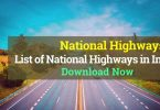 List of National Highways in India