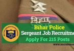 Bihar Police Sergeant Recruitment