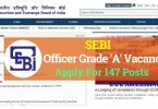 Officer Grade A vacancies in SEBI