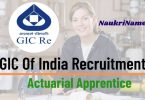 GIC of India Actuarial Apprentice Recruitment