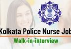 Kolkata Police Nurse Recruitment